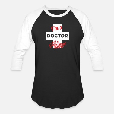 Doctor Whooves Doctor - i'm a doctor not a government worker - Unisex Baseball T-Shirt