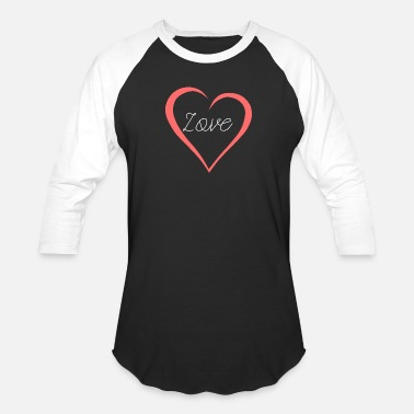 Heart Curve Love Lettering Curved Heart As A Gift - Baseball T-Shirt