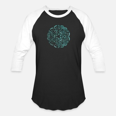 Steampunk Distressed Metal Celtic Design - Baseball T-Shirt