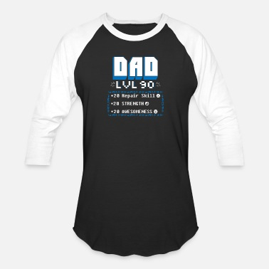 Gamer Daddy Gamer - funny dad video games gamer nerd daddy - Baseball T-Shirt