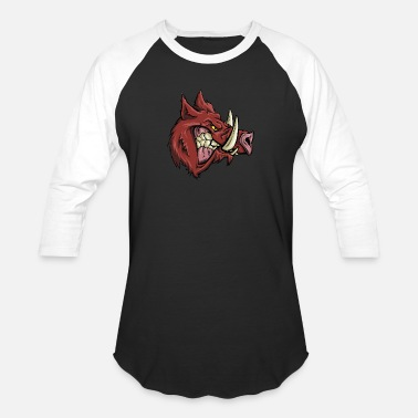 Boar Raging Boar - Baseball T-Shirt