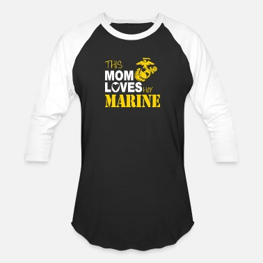 Mom Marine - This Mom Loves Her Marine - Baseball T-Shirt