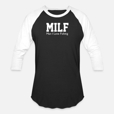 Porn Fishing Milf Man I Love Fishing Funny Porn Fisherman cool - Unisex Baseball T-Shirt
