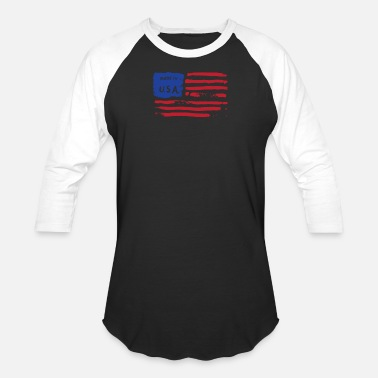 Usa American Flag Jokes Made USA Cute American Flag - Baseball T-Shirt