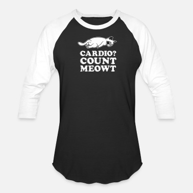 Character Counts Cardio Count Meowt - Baseball T-Shirt