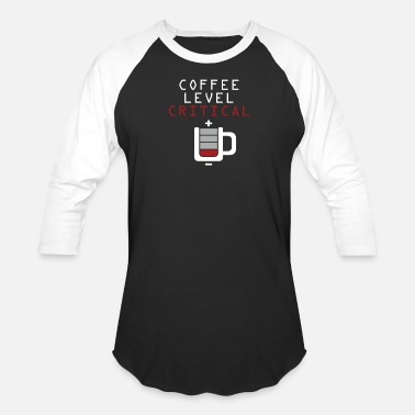 Critical Music Coffee Level Critical - Baseball T-Shirt