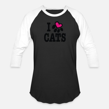 Marriage Heart Cats I heart cats - Baseball T-Shirt