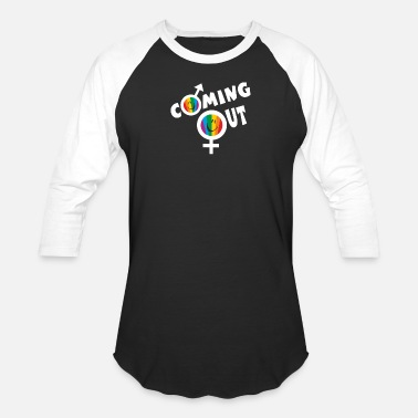 Coming Out Coming Out - Unisex Baseball T-Shirt