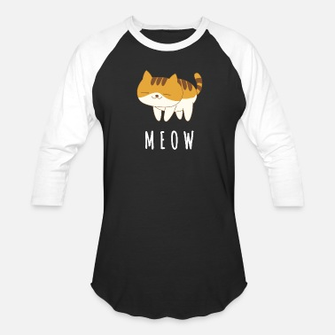 Meow Cat - Unisex Baseball T-Shirt