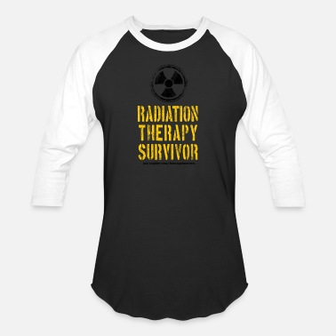 Radiation Radiation Therapy Survivor Yellow and Black - Unisex Baseball T-Shirt
