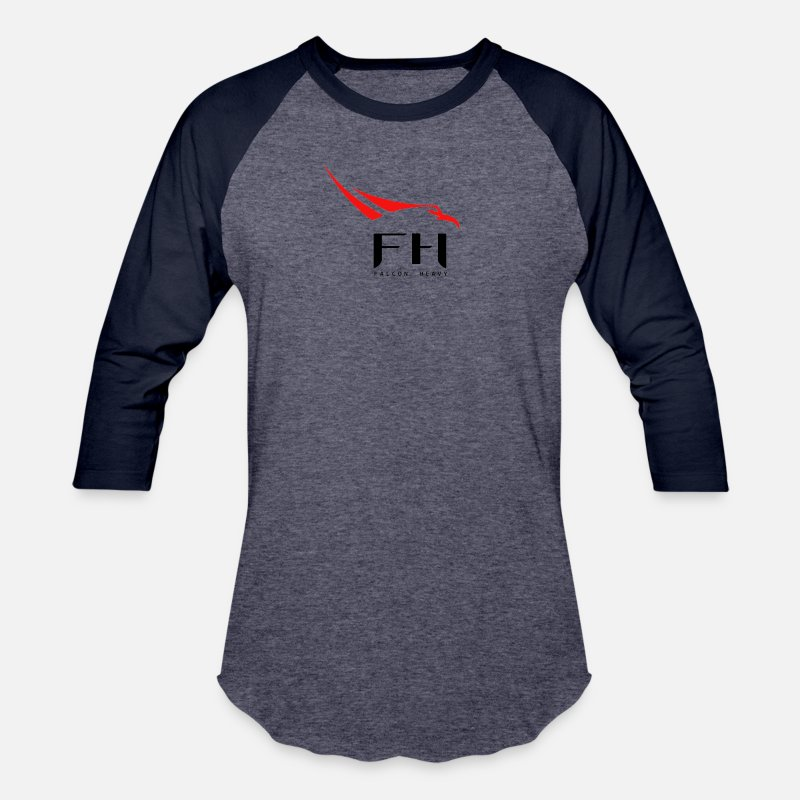 60a8051b4 SpaceX Falcon Heavy Unisex Baseball T-Shirt | Spreadshirt