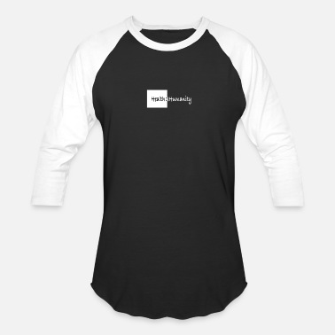Black White Human Health 2 Humanity black&white - Baseball T-Shirt