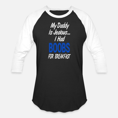 Funny Pregnancy MY DADDY IS JEALOUS... - Baseball T-Shirt