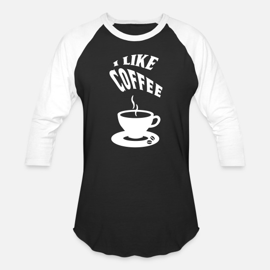 Coffee Bean T-Shirts - COFFEE, COFFEE BREAK, GIFT IDEA, T-SHIRT - Unisex Baseball T-Shirt black/white