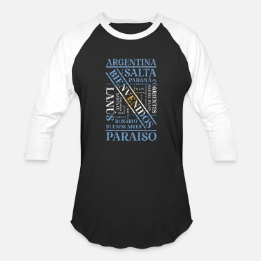 Capital Of Argentina Argentina Flag Used Look Vintage Cities Banner - Unisex Baseball T-Shirt