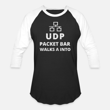 Network Security UDP Packet Bar Walks A Into - Funny Network Gift - Baseball T-Shirt