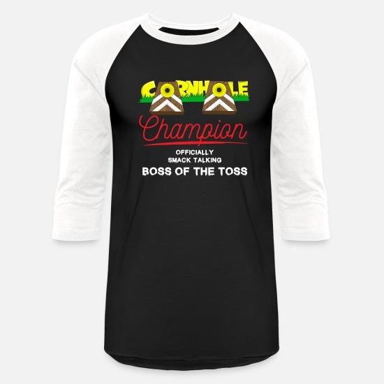 0591adbe2 Cornhole Champion Gift Unisex Baseball T-Shirt | Spreadshirt