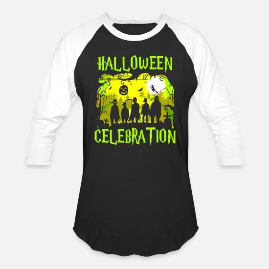 Magic T-Shirts - Halloween Celebration - Unisex Baseball T-Shirt black/white