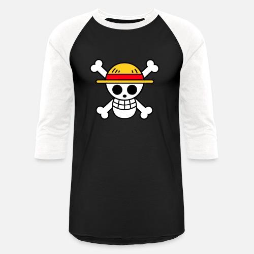 da754cdcfc2 One piece (straw hat pirates flag ) - Unisex Baseball T-Shirt. Front