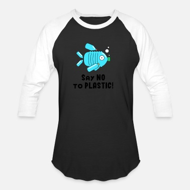 Pollution No Plastic waste pollution Ocean Fish save - Unisex Baseball T-Shirt