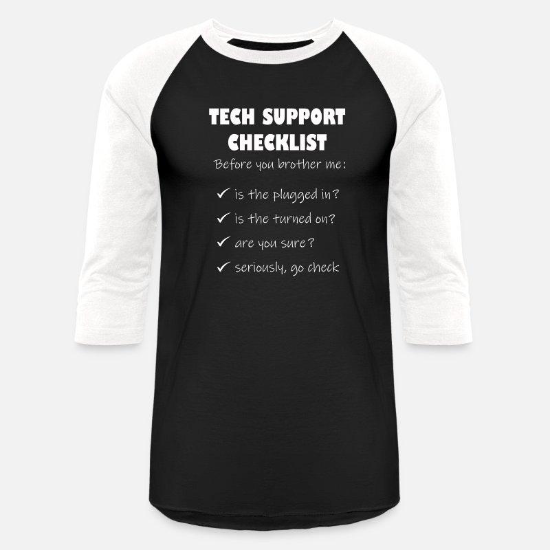 4b127b8bca Computer Tech Support Funny Helpdesk Hotline print Unisex Baseball T-Shirt  | Spreadshirt