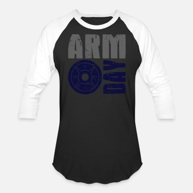 Tricep Arm Day Bicep and Tricep Gym Rat - Unisex Baseball T-Shirt