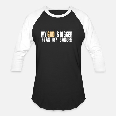 Muslim My God Is Bigger Than Cancer Awareness Gift - Unisex Baseball T-Shirt