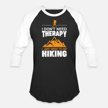 Hiking gift for hikers and pilgrims nature - Unisex Baseball T-Shirt