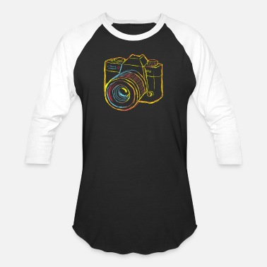 Weekend Camera Strokes gift for Photographer - Unisex Baseball T-Shirt