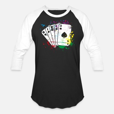Card Card Game colored - Unisex Baseball T-Shirt