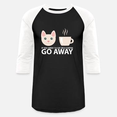 d58a93dc Nerd Cats and Coffee Cute Geek Kitty Cate Meow Pink - Unisex Baseball T- Shirt