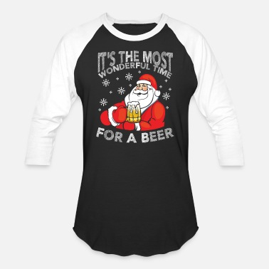 Wonderful Its The Most Wonderful Time For A Beer - Unisex Baseball T-Shirt