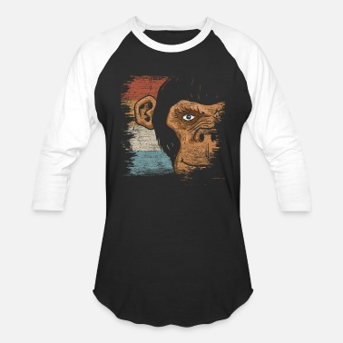 Evolution Monkey Monkey Animal Monkeys Primate Gift Wild Evolution - Baseball T-Shirt