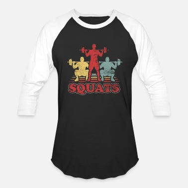 From Squat Squat Exercise Workout Squats Gym Fitness Gift - Baseball T-Shirt