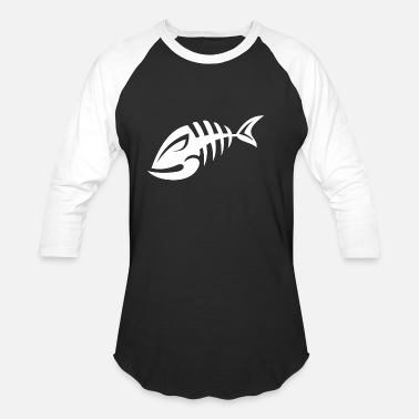 Fish Bone fish bone - Unisex Baseball T-Shirt