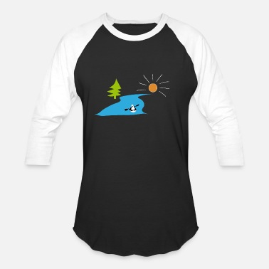 river kayak great gift for kayakers - Unisex Baseball T-Shirt