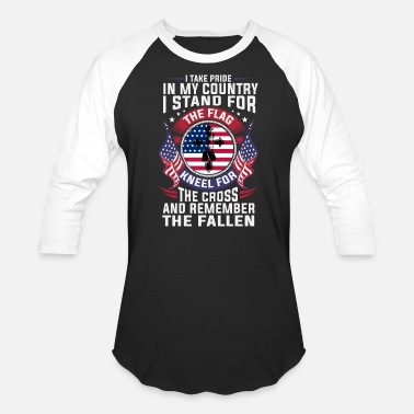 Military Patriotic American Christian Military Veteran - Unisex Baseball T-Shirt