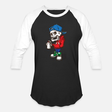 Skull Kid - Graffiti - Baseball T-Shirt