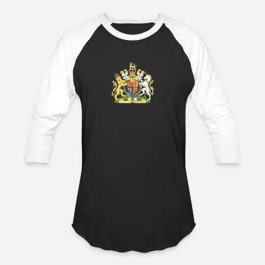 Royal Arms Of England National Coat Of Arms Of The United Kingdom - Unisex Baseball T-Shirt