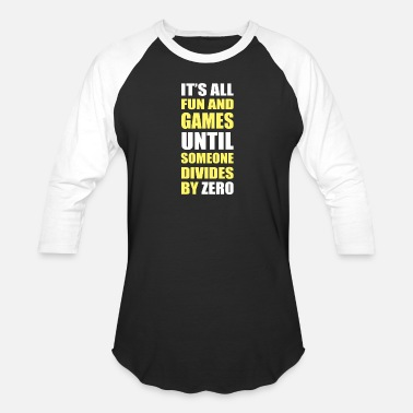 Divide By Zero divides by zero - Baseball T-Shirt