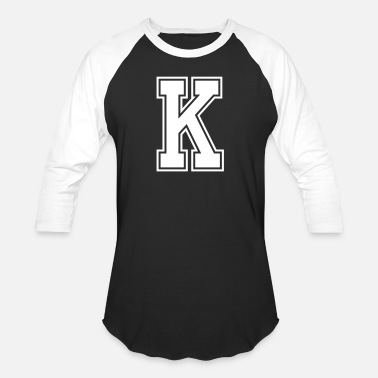 Letters Of The Alphabet Letter K Alphabet College Style - Baseball T-Shirt