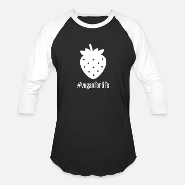 Strawberry Field strawberry veganforlife delicious fruit healthy - Baseball T-Shirt