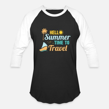 Travel time to travel tropical island vacay - Baseball T-Shirt