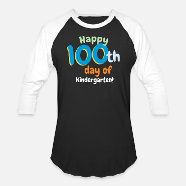 100th Day Happy 100th Day of Kindergarten - Baseball T-Shirt