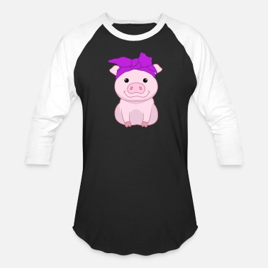 Bandana Animals Pig Bandana - Baseball T-Shirt