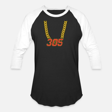 305 305 Miami Swagger Necklace - Unisex Baseball T-Shirt