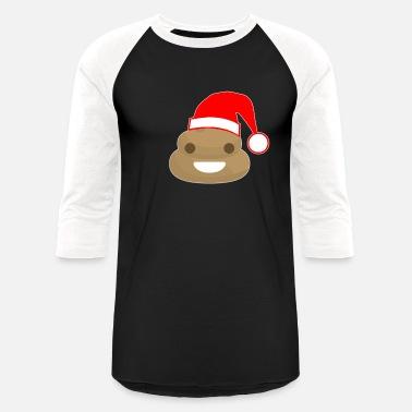 0e74d4587 Santa Pooping Poop Santa - Unisex Baseball T-Shirt