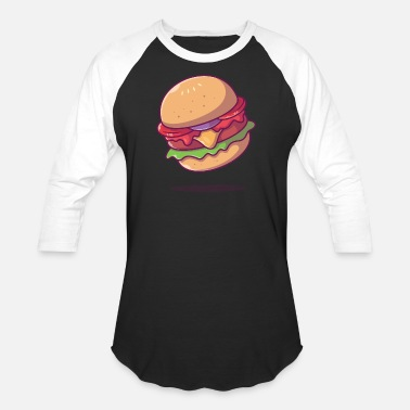 Patty Burger Cheeseburger Favorite Food Gift Idea - Unisex Baseball T-Shirt