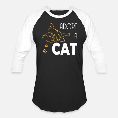 Cat Adoption Adopt A Cat - Baseball T-Shirt