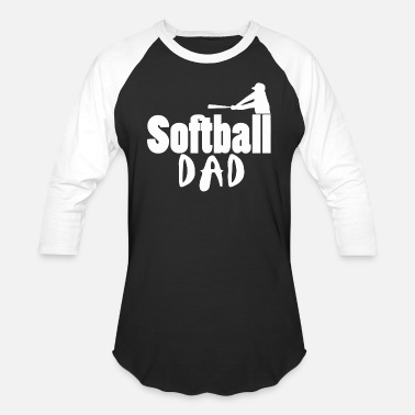 Softball Dads Softball dad - softball dad - Unisex Baseball T-Shirt